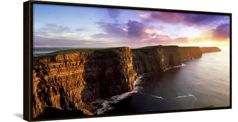 Sunset on the Cliffs of Moher, County Clare, Ireland-Chris Hill-Framed Canvas Print