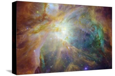 Spitzer and Hubble Create Colorful Masterpiece Space Photo--Stretched Canvas Print