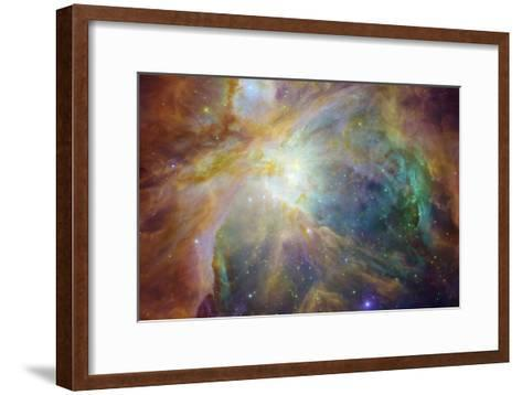 Spitzer and Hubble Create Colorful Masterpiece Space Photo--Framed Art Print