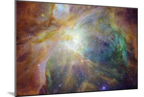 Spitzer and Hubble Create Colorful Masterpiece Space Photo--Mounted Art Print