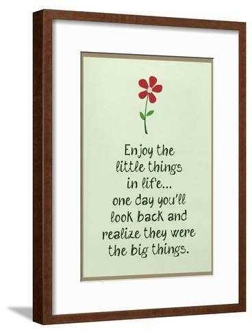 Enjoy the Little Things in Life--Framed Art Print