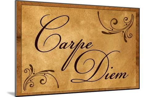 Carpe Diem Seize the Day--Mounted Art Print