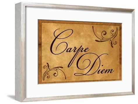 Carpe Diem Seize the Day--Framed Art Print