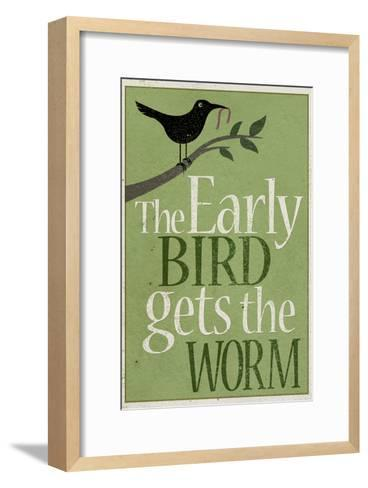 The Early Bird Gets the Worm--Framed Art Print