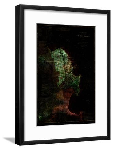 San Francisco Map 3--Framed Art Print