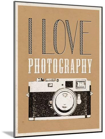 I Love Photography Poster--Mounted Art Print