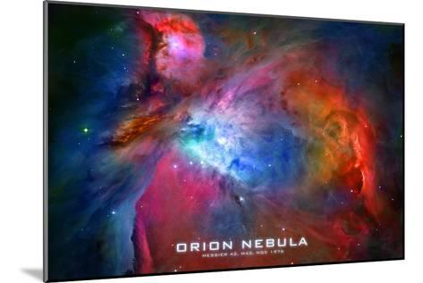 Orion Nebula Text Space Photo--Mounted Art Print