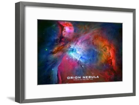 Orion Nebula Text Space Photo--Framed Art Print