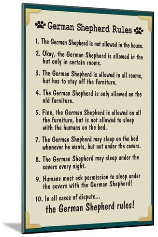 German Shepherd House Rules--Mounted Art Print
