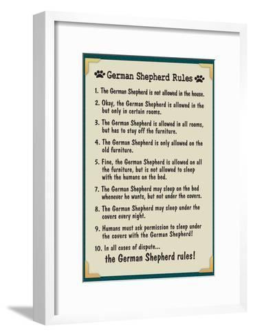 German Shepherd House Rules--Framed Art Print