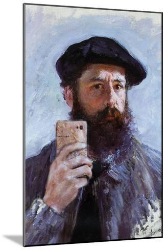 Claude Monet Selfie Portrait--Mounted Art Print