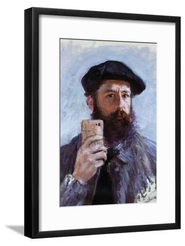 Claude Monet Selfie Portrait--Framed Art Print