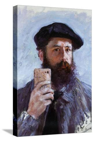 Claude Monet Selfie Portrait--Stretched Canvas Print