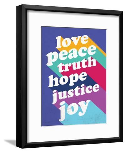 Love, Peace, Truth--Framed Art Print
