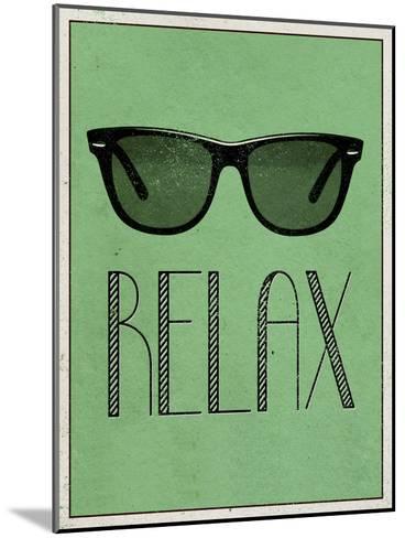 Relax Retro Sunglasses Art Poster Print--Mounted Art Print