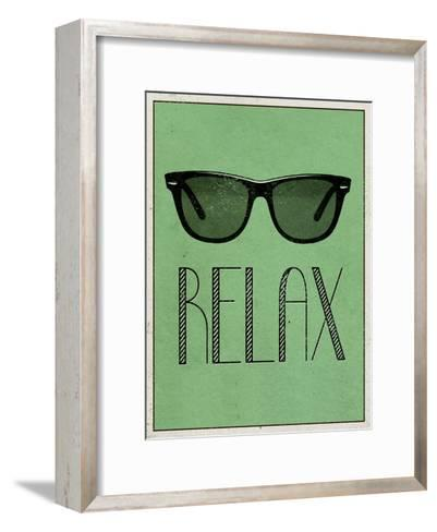 Relax Retro Sunglasses Art Poster Print--Framed Art Print