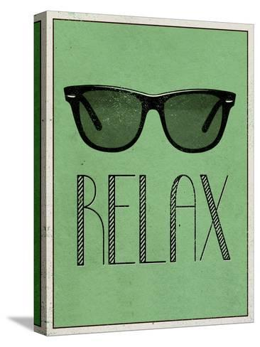 Relax Retro Sunglasses Art Poster Print--Stretched Canvas Print
