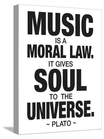 Plato Music--Stretched Canvas Print