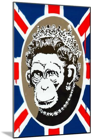 Monkey Queen Union Jack Graffiti--Mounted Art Print