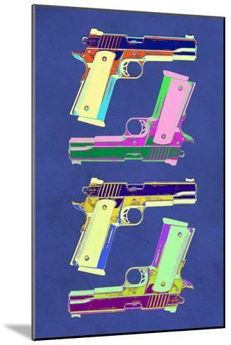 Guns Blue Pop-Art Poster--Mounted Art Print