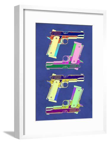 Guns Blue Pop-Art Poster--Framed Art Print