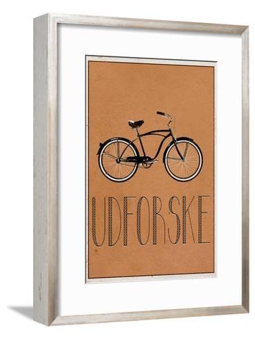 UDFORSKE (Danish -  Explore)--Framed Art Print