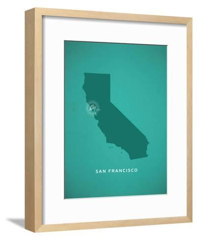 You Are Here San Francisco--Framed Art Print