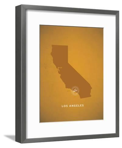 You Are Here Los Angeles--Framed Art Print