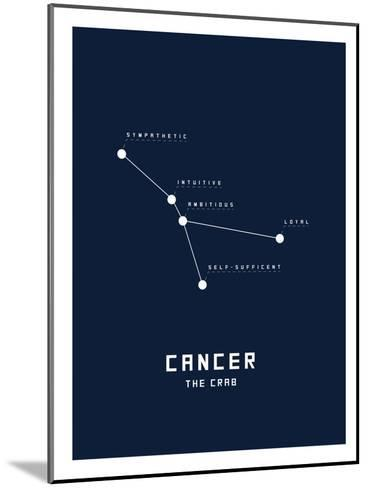 Astrology Chart Cancer--Mounted Art Print