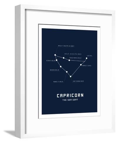 Astrology Chart Capricorn--Framed Art Print