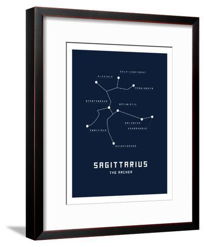 Astrology Chart Sagittarius--Framed Art Print