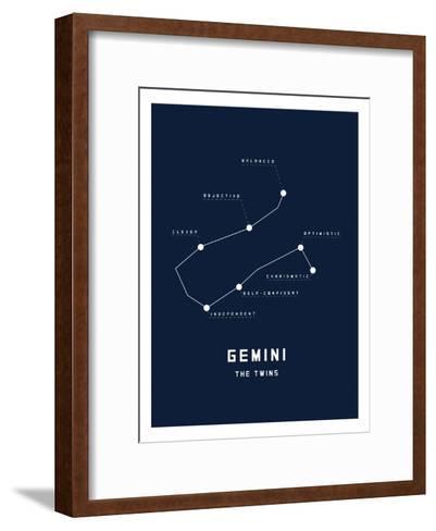 Astrology Chart Gemini--Framed Art Print