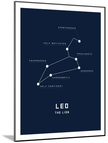 Astrology Chart Leo--Mounted Art Print