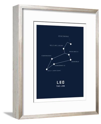 Astrology Chart Leo--Framed Art Print