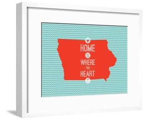 Home Is Where The Heart Is - Iowa--Framed Art Print