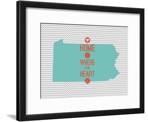 Home Is Where The Heart Is - Pennsylvania--Framed Art Print