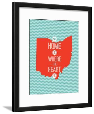 Home Is Where The Heart Is - Ohio--Framed Art Print