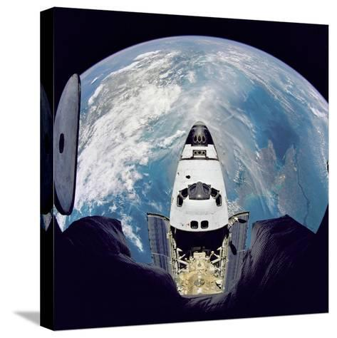 Space Shuttle Atlantis from Orbital Station Mir, June 29, 1995--Stretched Canvas Print
