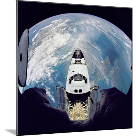Space Shuttle Atlantis from Orbital Station Mir, June 29, 1995--Mounted Art Print
