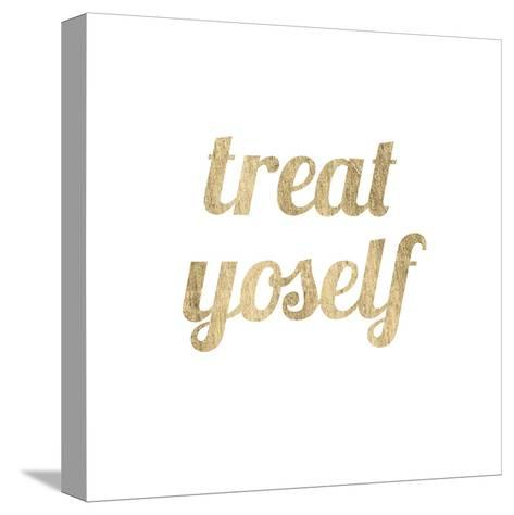 Golden Quote IX-Anna Hambly-Stretched Canvas Print