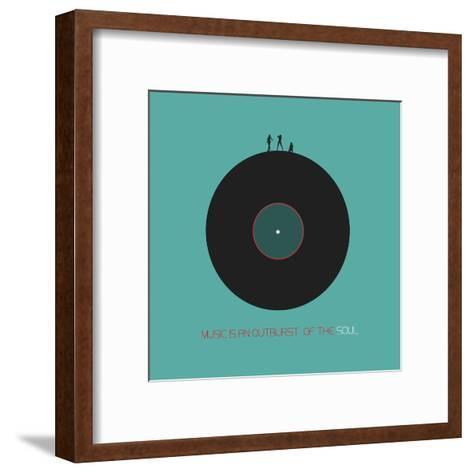 Music Is An Outburst Of The Soul-NaxArt-Framed Art Print
