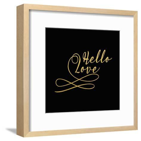 Hello Love Gold on Black-Tara Moss-Framed Art Print