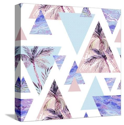 Abstract Summer Geometric Seamless Pattern-tanycya-Stretched Canvas Print