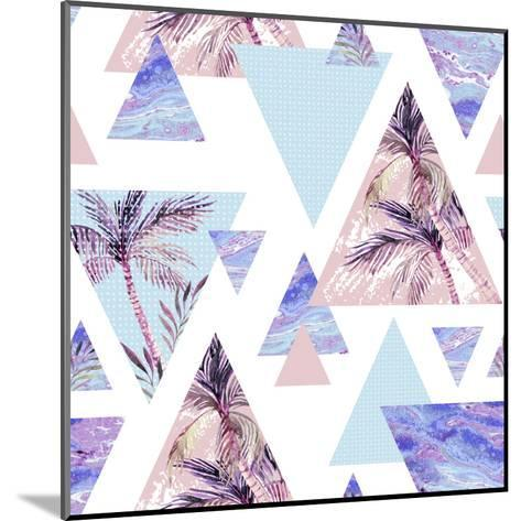 Abstract Summer Geometric Seamless Pattern-tanycya-Mounted Art Print