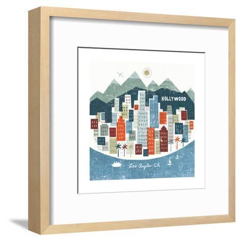 Colorful Los Angeles-Michael Mullan-Framed Art Print