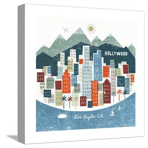 Colorful Los Angeles-Michael Mullan-Stretched Canvas Print
