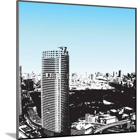 Grunge Style Skyscrapers-JENNY SOLOMON-Mounted Art Print
