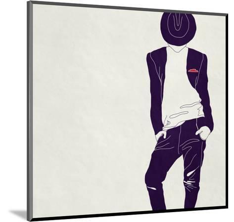 Stylish Man,, Black and White-vipa21-Mounted Art Print