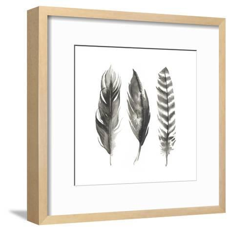 Watercolor Feathers I-Grace Popp-Framed Art Print