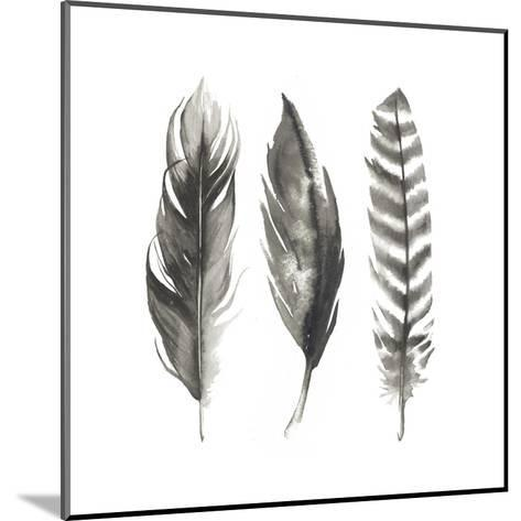 Watercolor Feathers I-Grace Popp-Mounted Art Print